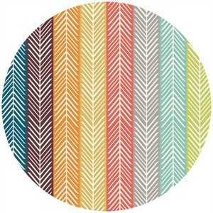 Jay-Cyn Designs for Birch Fabrics, Serengeti, Quill Stripe Multi