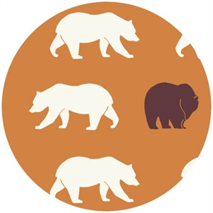 Jay-Cyn Designs for Birch Organic Fabrics, Camp Modern, Bear Hike Orange