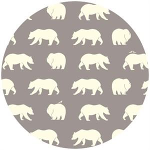 Jay-Cyn Designs for Birch Organic Fabrics, Bear Camp, Bear Hike Shroom