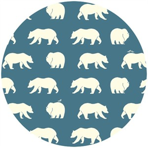 Jay-Cyn Designs for Birch Organic Fabrics, Bear Camp, KNIT, Bear Hike Blue
