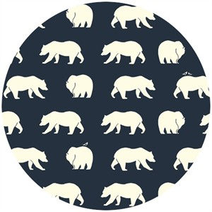 Jay-Cyn Designs for Birch Organic Fabrics, Bear Camp, KNIT, Bear Hike Dusk