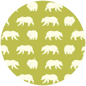 Jay-Cyn Designs for Birch Organic Fabrics, Bear Camp, KNIT, Bear Hike Grass