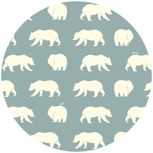 Jay-Cyn Designs for Birch Organic Fabrics, Bear Camp, CANVAS, Bear Hike Mineral