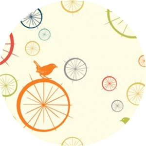 Jay-Cyn Designs for Birch Organic Fabrics, Just for Fun, Birdie Spokes Multi