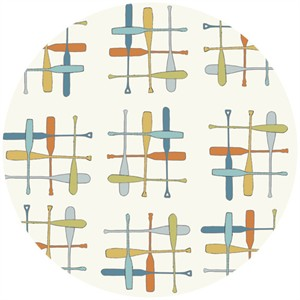 Jay-Cyn Designs for Birch Organic Fabrics, Camp Sur, Paddle Hatch