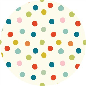Birch Organic Fabrics, Mod Basics 3, KNIT, Pop Dots Multi
