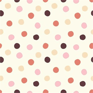 Birch Organic Fabrics, Mod Basics 3, DOUBLE GAUZE, Pop Dots Girl