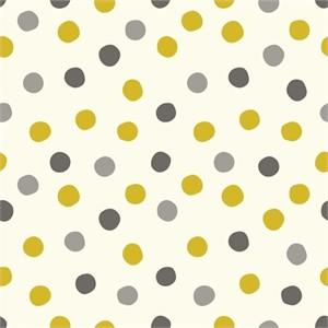 Birch Organic Fabrics, Mod Basics 3, DOUBLE GAUZE, Pop Dots Golden