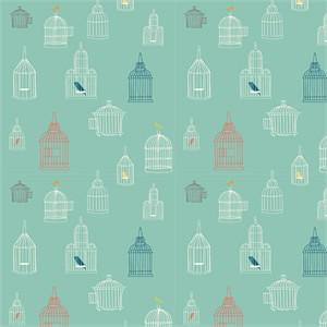 Jay-Cyn Designs for Birch Organic Fabrics, Farm Fresh, Bird Song Pool