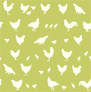Jay-Cyn Designs for Birch Organic Fabrics, Farm Fresh, Hens and Friends Grass