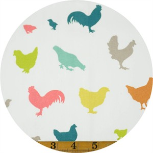 Jay-Cyn Designs for Birch Organic Fabrics, Farm Fresh, Hens and Friends Multi