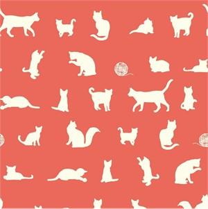 Jay-Cyn Designs for Birch Organic Fabrics, Farm Fresh, The Chase Coral