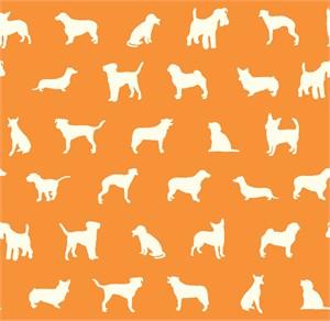 Jay-Cyn Designs for Birch Organic Fabrics, Farm Fresh, The Show Orange