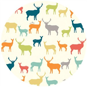 Jay-Cyn Designs for Birch Organic Fabrics, Elk Grove Cotton, Elk Fam Multi