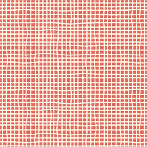 Jay-Cyn Designs for Birch Organic Fabrics, Farm Fresh, Woven Coral