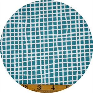 Jay-Cyn Designs for Birch Organic Fabrics, Farm Fresh, Woven Teal