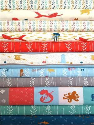 Jay-Cyn Designs for Birch Organic Fabrics, Beyond the Sea 9 Total