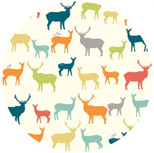 Jay-Cyn Designs for Birch Organic Fabrics, Elk Grove, KNIT, Elk Fam Multi