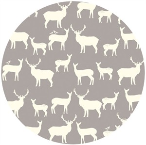 Jay-Cyn Designs for Birch Organic Fabrics, Elk Grove, KNIT, Elk Fam Shroom