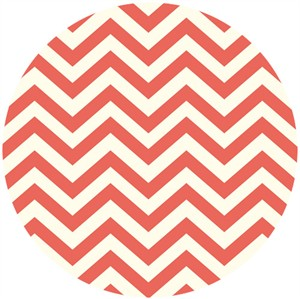 Jay-Cyn Designs for Birch Organic Fabrics, Elk Grove KNIT, Skinny Chevron Coral