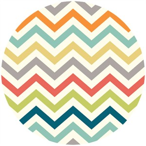 Jay-Cyn Designs for Birch Organic Fabrics, Just For Fun, Skinny Chevron Multi