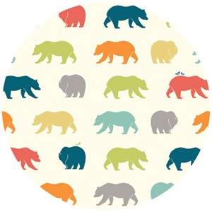 Jay-Cyn Designs for Birch Organic Fabrics, Just For Fun, Bear Hike Multi