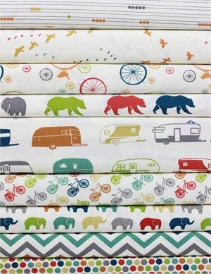 Jay-Cyn Designs for Birch Organic Fabrics, Just For Fun, Entire Collection in FAT QUARTERS 7 Total