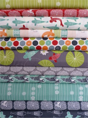 Jay-Cyn Designs for Birch Organic Fabrics, Eiko, Entire Collection 12 FAT QUARTERS in Total