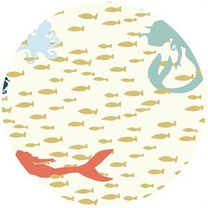Jay-Cyn Designs for Birch Organic Fabrics, Beyond the Sea, Swim Lesson