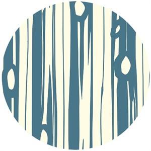 Jay-Cyn Designs for Birch Organic Fabrics, Bear Camp, Bear Bois Blue