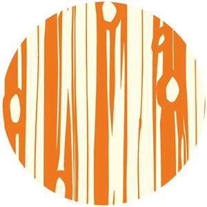 Jay-Cyn Designs for Birch Organic Fabrics, Bear Camp, Bear Bois Orange