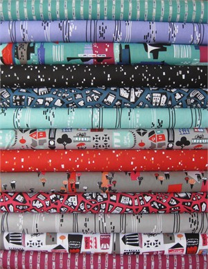 Jane Dixon, City Scenes in FAT QUARTERS, 13 Total