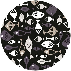 Jane Dixon, High Tide, Fishies Black