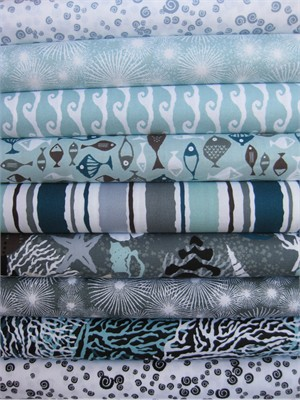 Jane Dixon, High Tide, Marine in FAT QUARTERS 9 Total