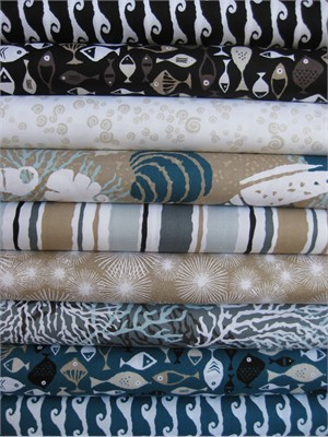 Jane Dixon, High Tide, Sand in FAT QUARTERS 9 Total