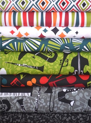 Jane Dixon, Jazz Jam in FAT QUARTERS 8 Total