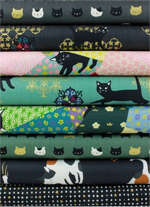 Japanese Import, Neko II, Coal in FAT QUARTERS 8 Total