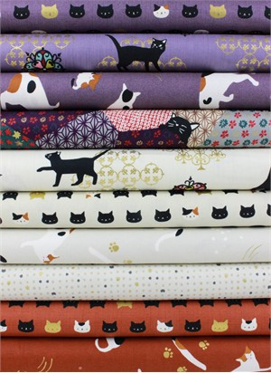 Japanese Import, Neko II, Natural in FAT QUARTERS 10 Total