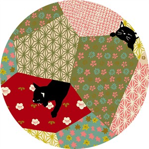 Japanese Import, Neko II, Quilty Kitty Pink Metallic