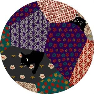 Japanese Import, Neko II, Quilty Kitty Purple Metallic