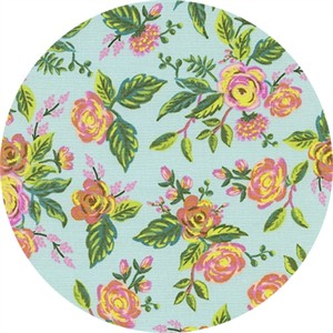 AVAILABLE FOR PREORDER, Rifle Paper Co. for Cotton and Steel, Menagerie, Jardin De Paris Mint