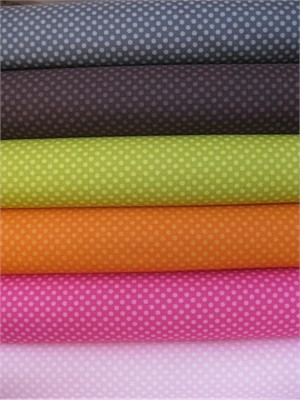 Jaqueline Savage McFee, Hot Chocolate Tonal Dot Sampler in FAT QUARTERS, 6 Total