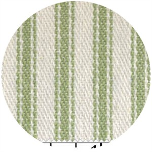 James Thompson, Ticking Woven Stripes, Apple Green