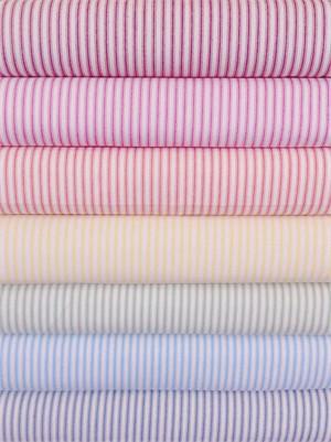 James Thompson, Ticking Woven Stripes, Bright 6 Total