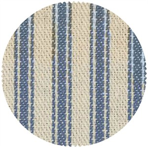 James Thompson, Ticking Woven Stripes, Denim Blue