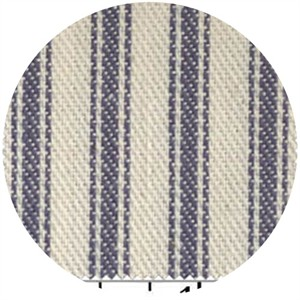 James Thompson, Ticking Woven Stripes, Navy Blue