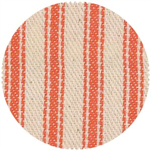 James Thompson, Ticking Woven Stripes, Orange