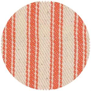 James Thompson, Ticking Woven Stripes, Orange