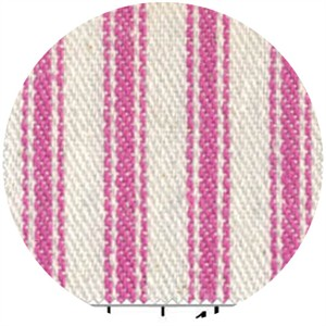 James Thompson, Ticking Woven Stripes, Petal Pink