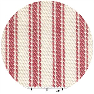 James Thompson, Ticking Woven Stripes, Red
